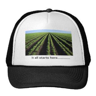 Farmin hat, It all starts here Trucker Hat