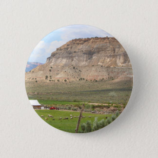 Farming country and hills, southern Utah 2 Inch Round Button