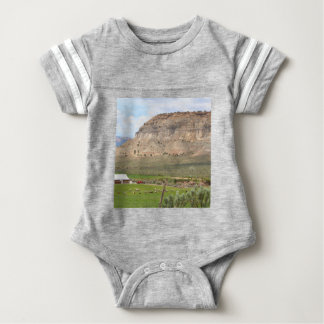 Farming country and hills, southern Utah Baby Bodysuit