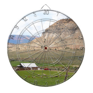 Farming country and hills, southern Utah Dartboard