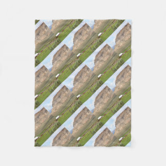 Farming country and hills, southern Utah Fleece Blanket