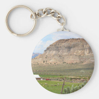 Farming country and hills, southern Utah Keychain