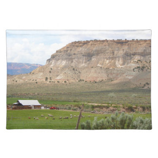 Farming country and hills, southern Utah Placemat
