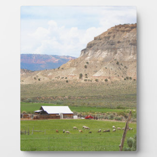 Farming country and hills, southern Utah Plaque