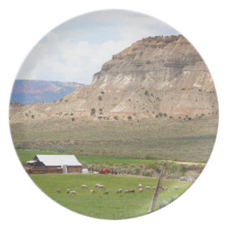 Farming country and hills, southern Utah Plate
