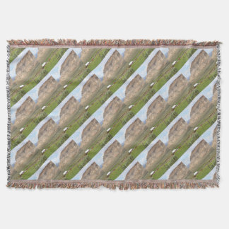 Farming country and hills, southern Utah Throw Blanket