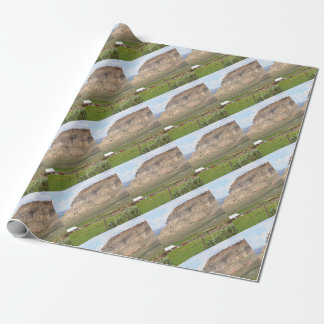 Farming country and hills, southern Utah Wrapping Paper