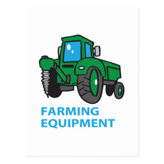 Farming Equipment Postcard