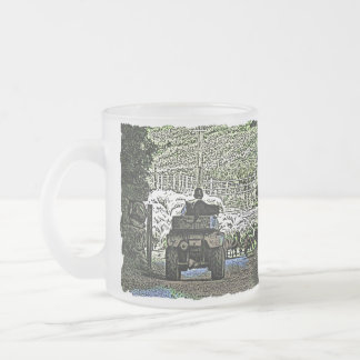 FARMING FROSTED GLASS COFFEE MUG