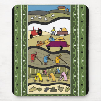 Farming in Africa Mouse Pad