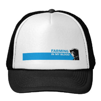 Farming in my blood, gift for a farmer or rancher trucker hat