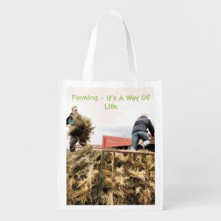 FARMING REUSABLE GROCERY BAG