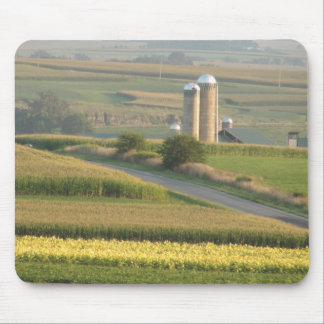 Farming Silos in Wisconsin Photograph Mouse Pad