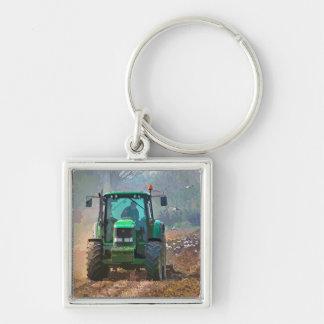 FARMING Silver-Colored SQUARE KEYCHAIN