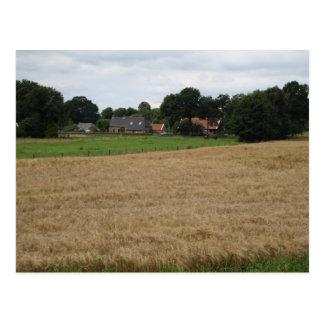 Farming village postcard