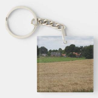 Farming village Single-Sided square acrylic keychain
