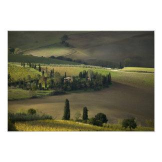 Farmland around Montepulciano, Tuscany, Italy Photographic Print