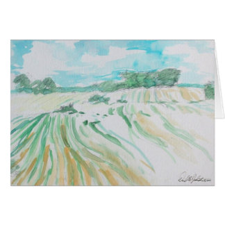 Farmland Watercolor Card