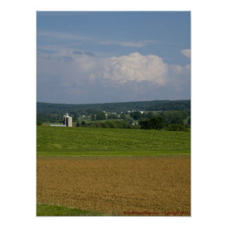 Farmlands of the Amish Country Poster