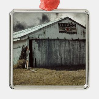 farmshed Silver-Colored square ornament