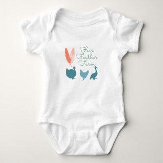 FarmTransparentFair Feather Farm Logo Baby Bodysuit