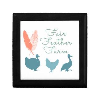FarmTransparentFair Feather Farm Logo Gift Box