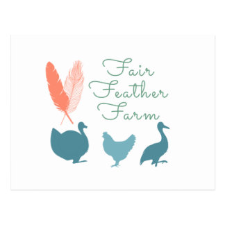 FarmTransparentFair Feather Farm Logo Postcard