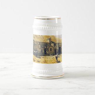 Farmyard at Chailly - Claude Monet Beer Stein