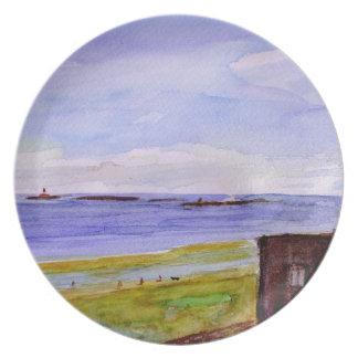 Farne Islands Melamine Plate