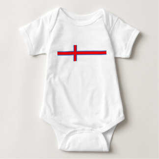 faroe island country flag long symbol baby bodysuit