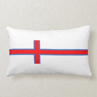 faroe island country flag long symbol lumbar pillow