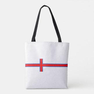 faroe island country flag long symbol tote bag