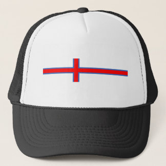 faroe island country flag long symbol trucker hat