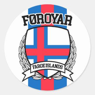 Faroe Islands Classic Round Sticker