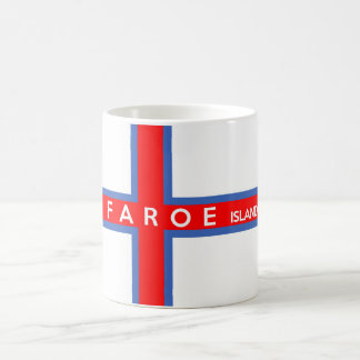 faroe islands country flag text name coffee mug