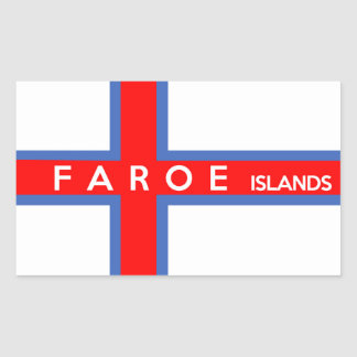 faroe islands country flag text name sticker