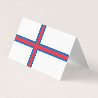 Faroe Islands Flag Business Card