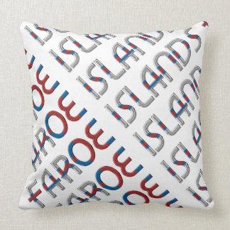 Faroe Islands Flag Colors Typography Souvenir Throw Pillow