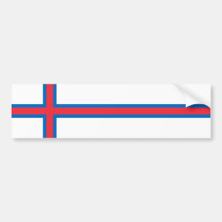 Faroe Islands Flag. Denmark/Danish/Dane Bumper Sticker