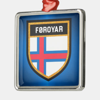 Faroe Islands Flag Metal Ornament