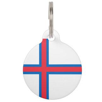 Faroe Islands Flag Pet Name Tag