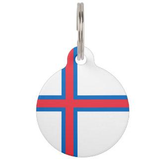 Faroe Islands Flag Pet Tag