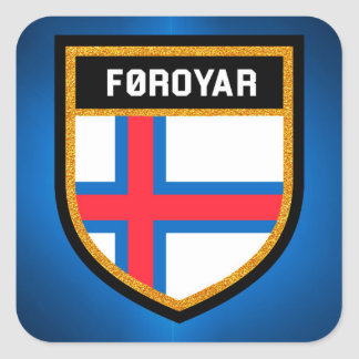 Faroe Islands Flag Square Sticker
