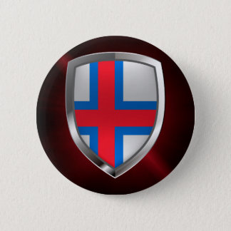 Faroe Islands  Metallic Emblem 2 Inch Round Button