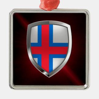 Faroe Islands  Metallic Emblem Metal Ornament