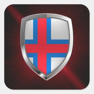 Faroe Islands  Metallic Emblem Square Sticker