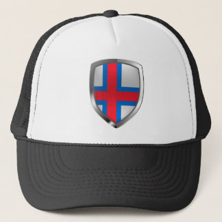 Faroe Islands  Metallic Emblem Trucker Hat