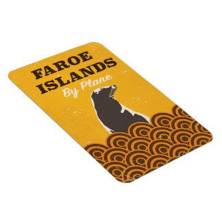 Faroe islands vintage travel poster magnet