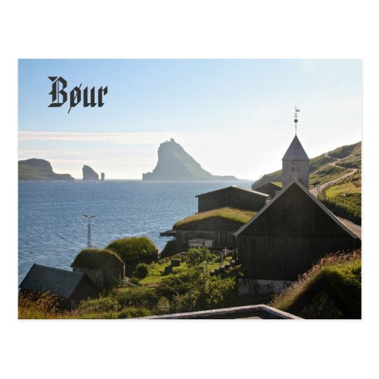 Faroese Village of Bøur: Postcard