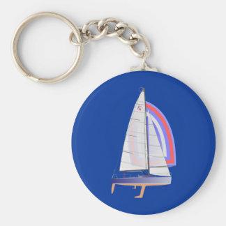 Farr 30 One Design Racing Sailboat Keychain